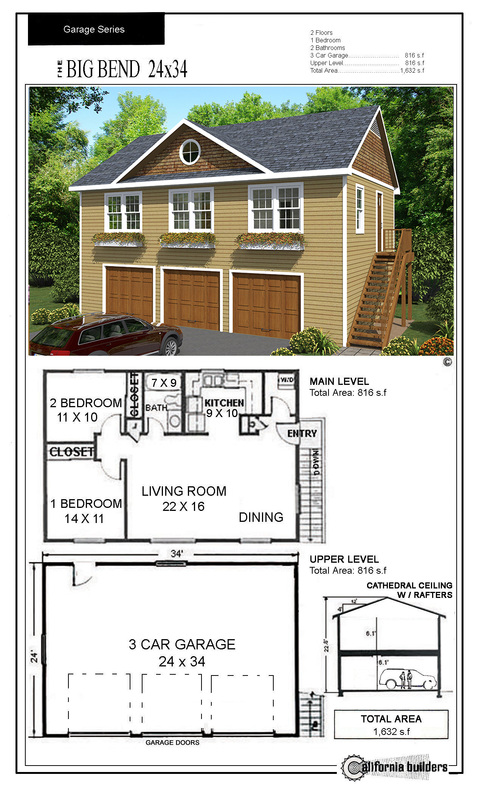 CARRIAGE HOUSES California Builders Inc – 3 Bedroom Carriage House Plans